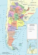 Tiene una población de alrededor de 1.200.000 habitantes. (mapa de argentina)