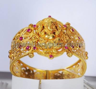 kalyan jewellers gold kada temple bracelet