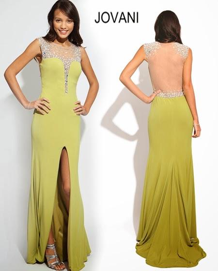 Дълга права рокля с цепка Jovani 2014