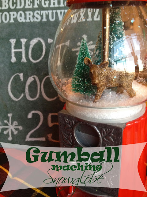 gumball machine snow globe christmas