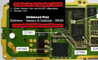 nokia 1208 not charging