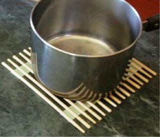 ALAS PANCI Panas – 2 Cara Bikin TATAKAN dari Sumpit Bambu