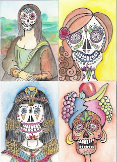Water Coloured Sugar Skull girls