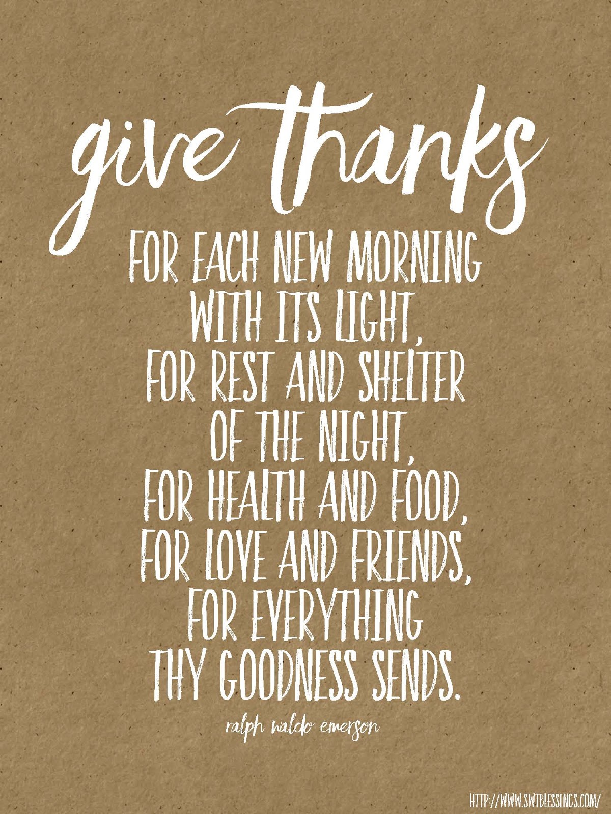 Giving Thanks Quotes Sweet Blessings Give Thanks