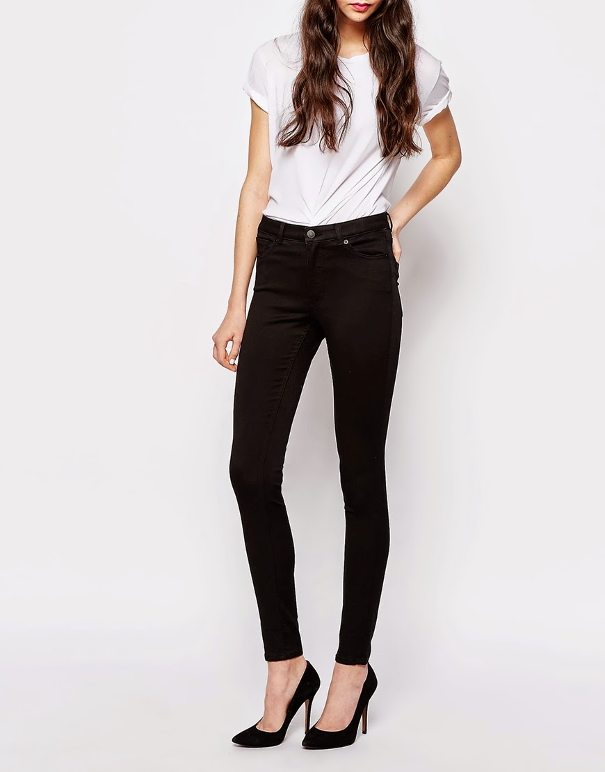 monki high rise black jeans