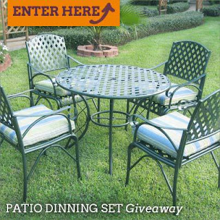 Enter to win a Patio Set from Wayfair