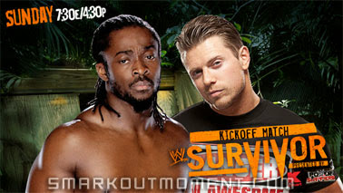 Miz heel turn on Kofi Kingston Survivor Series 2013 pay-per-view kickoff pre-show images