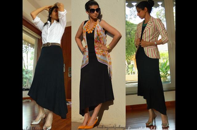How to wear a black maxi dress