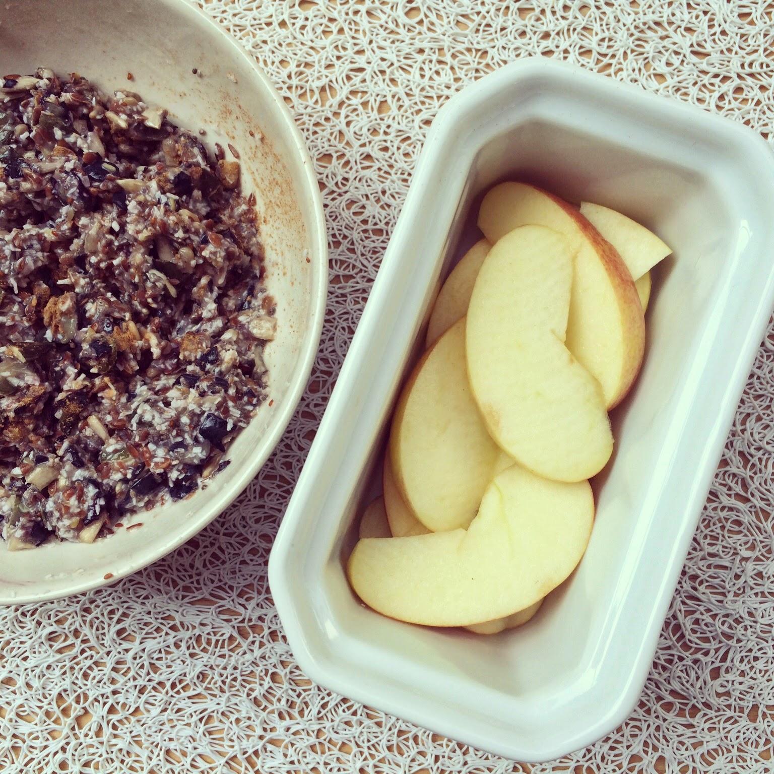 crumble pommes myrtilles graines