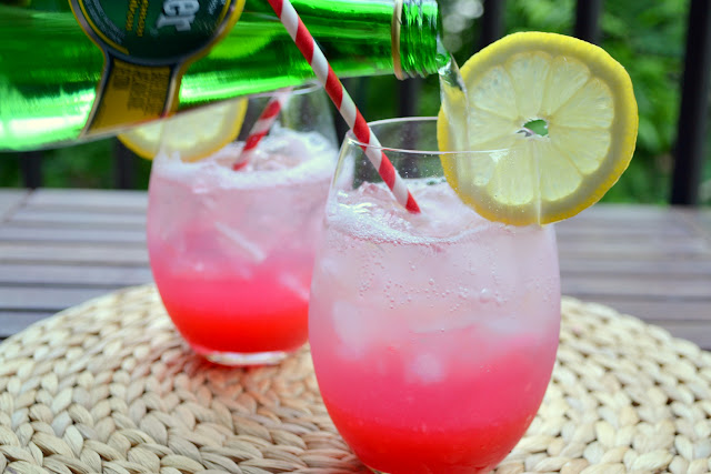 raspberry sparkling drink with fresh raspberry syrup recipe