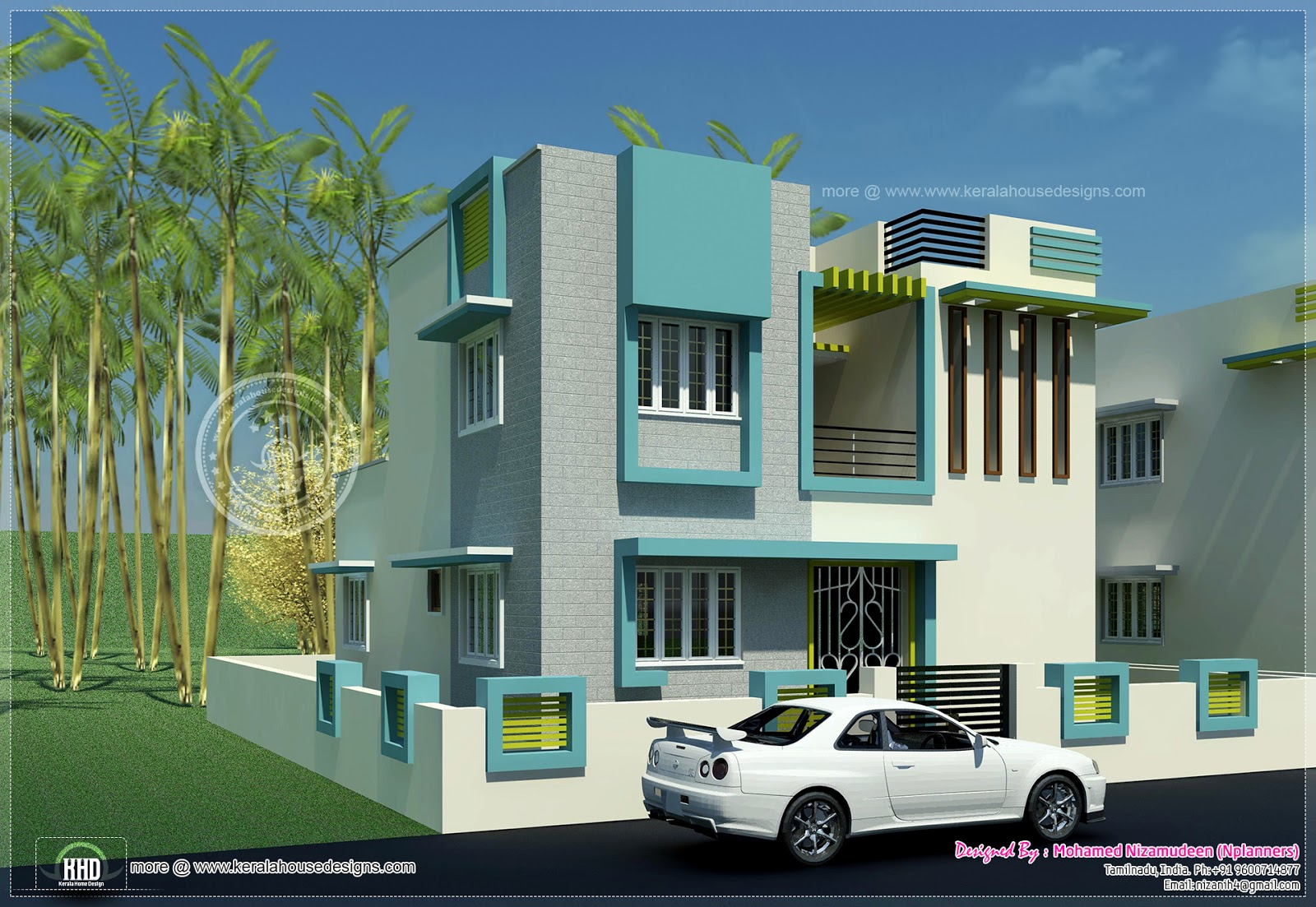 Kerala home design and floor plans 1484 south for 2 bhk house plans south indian style