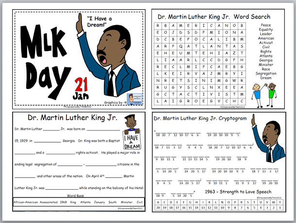 Empowered By THEM Martin Luther King Jr Day – Martin Luther King Jr Worksheet