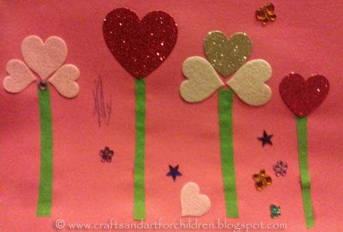 Kids Valentine's Day Flowers Craft