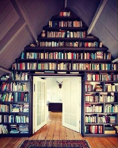 het internet staat dan ook vol fotos van mooie boekenkasten en het liefst zou ik die dan ook hebben daarom ga ik vandaag een beetje wegdromen bij deze