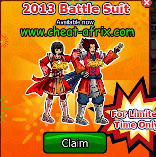 Claim 2013 Battle Suit Ninja Saga