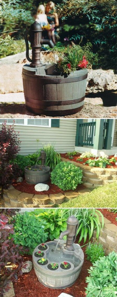 Little Giant Whiskey Barrel with Planter