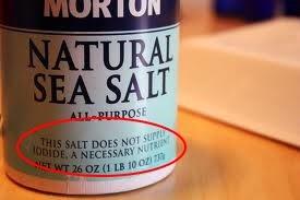 An example of a non-iodized sea salt.