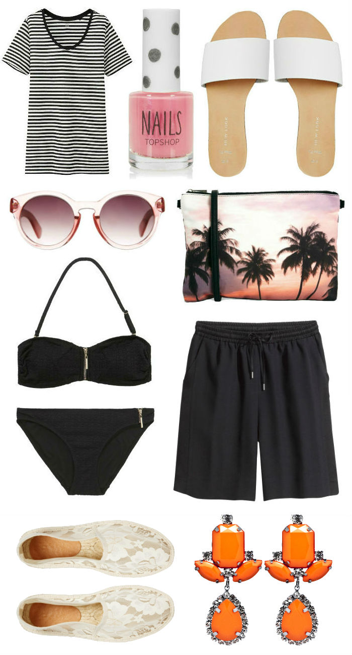 Capsule summer holiday wardrobe