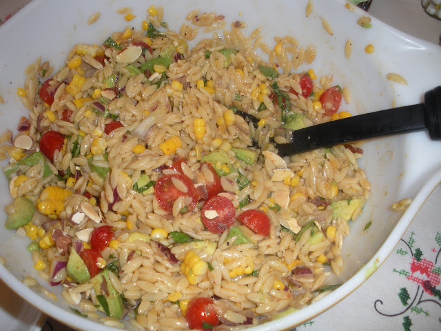 ... with Kate!: Grilled Corn Orzo Salad with Chili Lime Vinaigrette