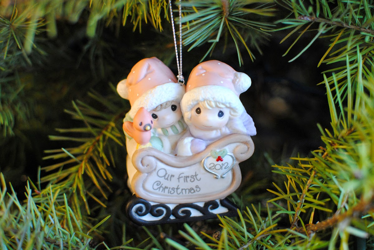 First christmas as a married couple ornament - For Our First Christmas As A Married Couple We Bought An Adorable Precious Moments Ornament To Celebrate The Occasion It S On Our Gorgeous Tree