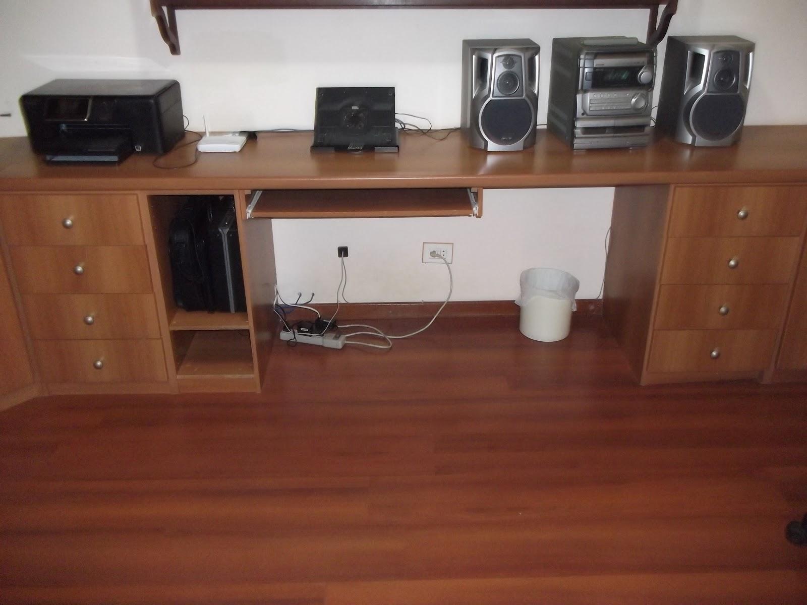 Garage Sale da Lu: Móvel para escritório (Bancada em L 165cm x  #6D3A29 1600x1200
