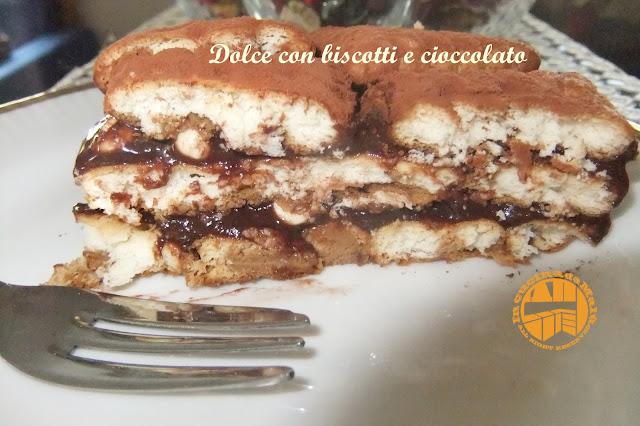 dolce con biscotti e crema al cioccolato e...ferie!!!