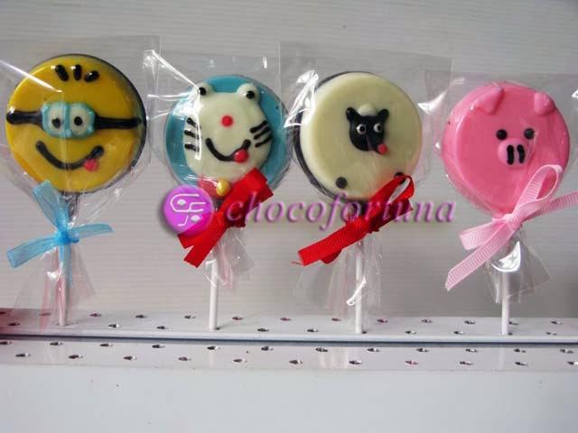 Cokelat Coklat Lolipop Karakter Kartun Doraemon Minion Shaun Pig