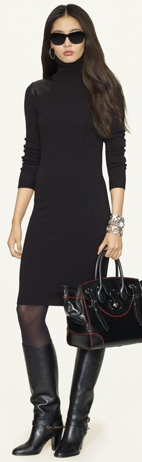 High Black Dress Fashion For Woman