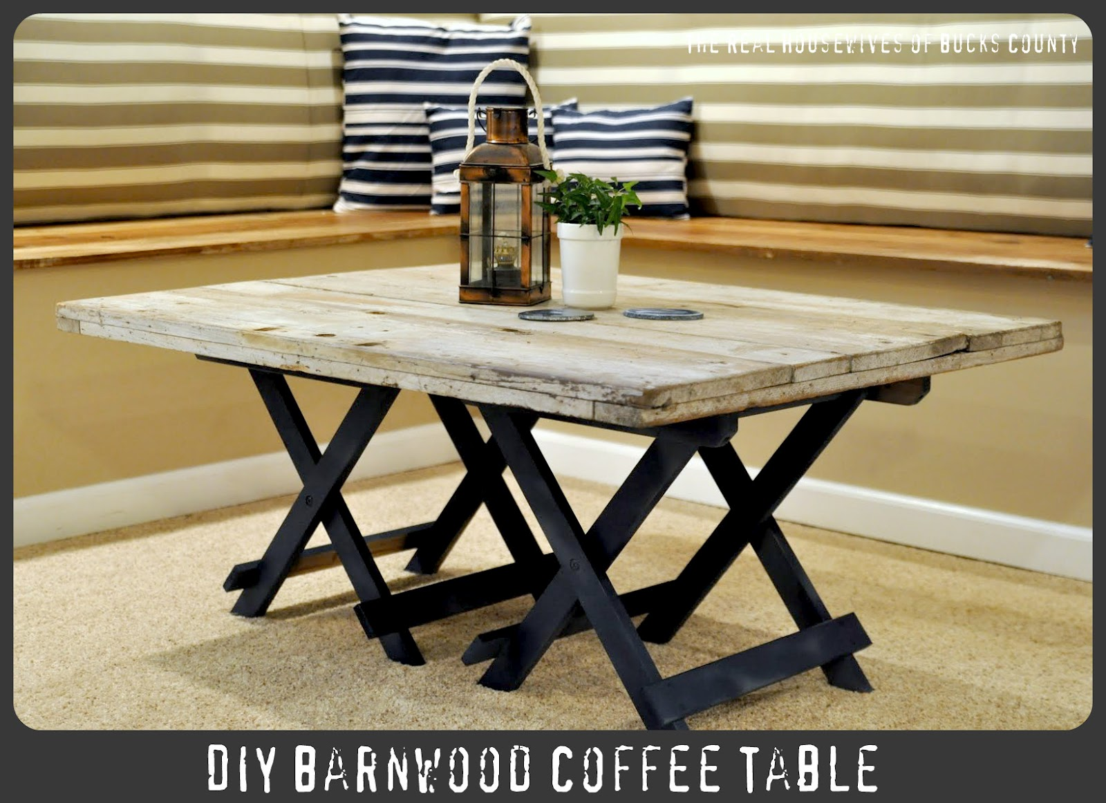 DIY Barn Meets Beach Coffee Table