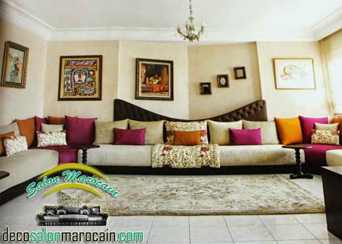 Salon Marocain confortable haute Design