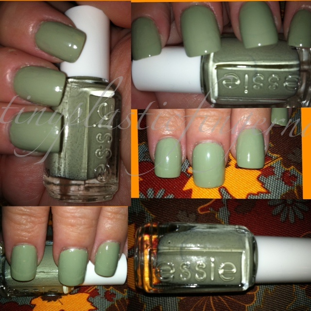 Tiny plastic fingernails: Essie Da Bush and CVS Nail Polish Remover ...