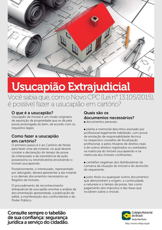 USUCAPIÃO EXTRAJUDICIAL