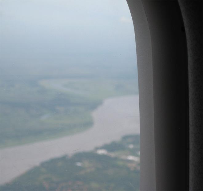 Río  Paraguay desde el aire por Gloria V Casañas