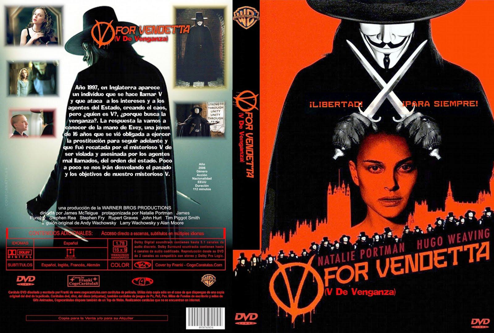 V de Venganza -2006- 827Mb. 304x720 -Mg.,Mf.y Sf.-