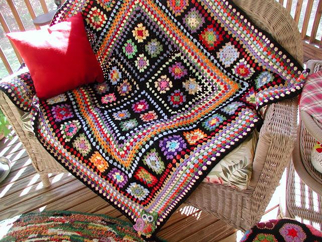 Вязание бабушкин квадрат оригинальное