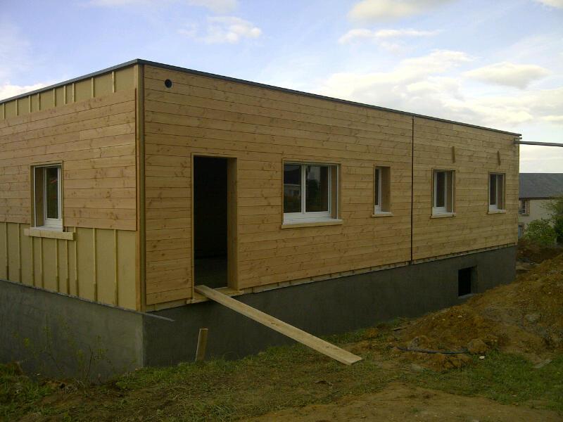 projet de construction ossature bois hors d 39 eau. Black Bedroom Furniture Sets. Home Design Ideas