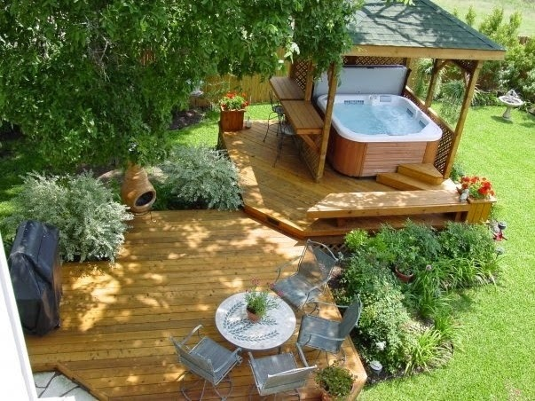 Deck Designs for Hot Tubs