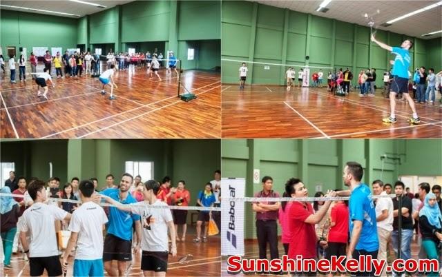 Joachim Fischer Nielsen, Babolat Badminton Demo Day, Malaysia, badminton, babolat, friendly match