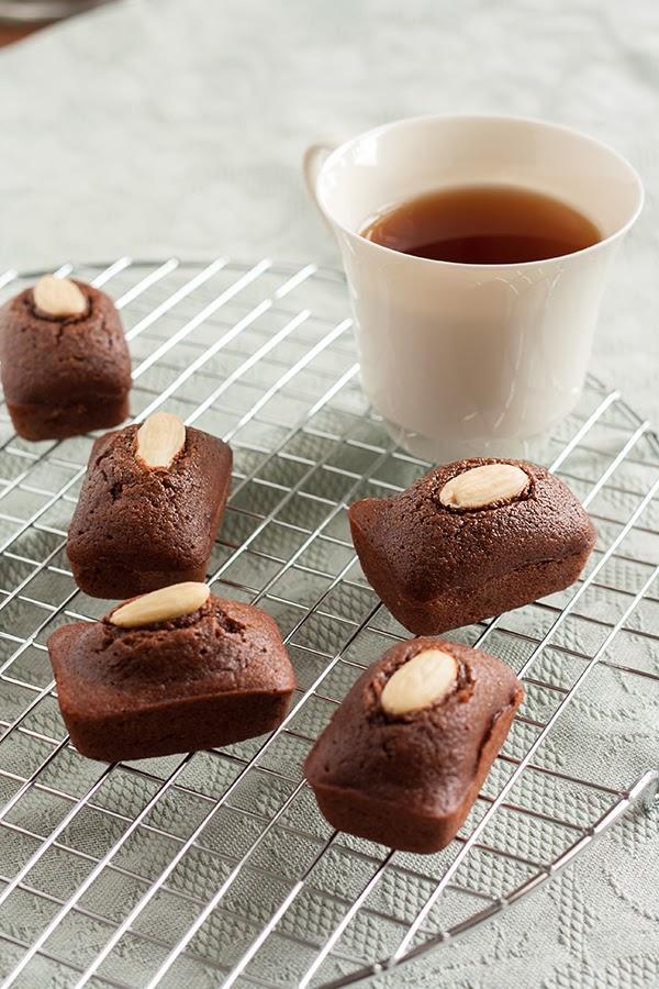 financier al cacao senza glutine