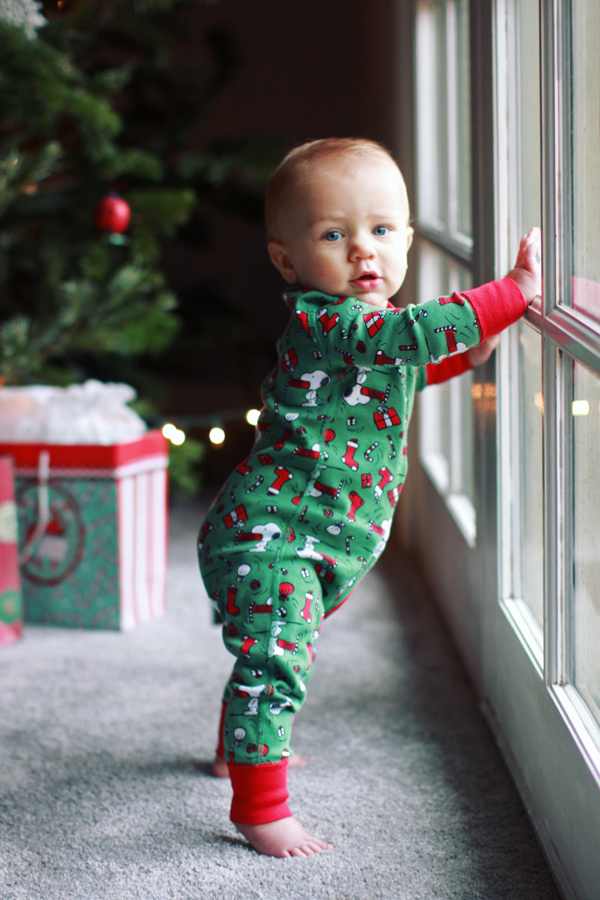 Snoopy Christmas pajamas for baby