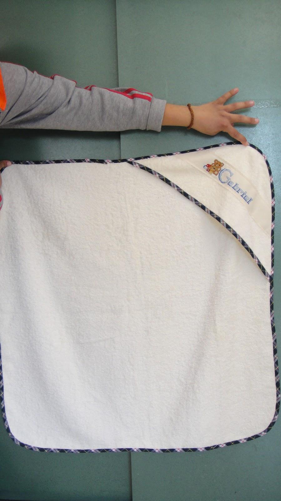 Baño De Ninos Medidas:Costura: TOALLA DE BAÑO PARA EL BEBE