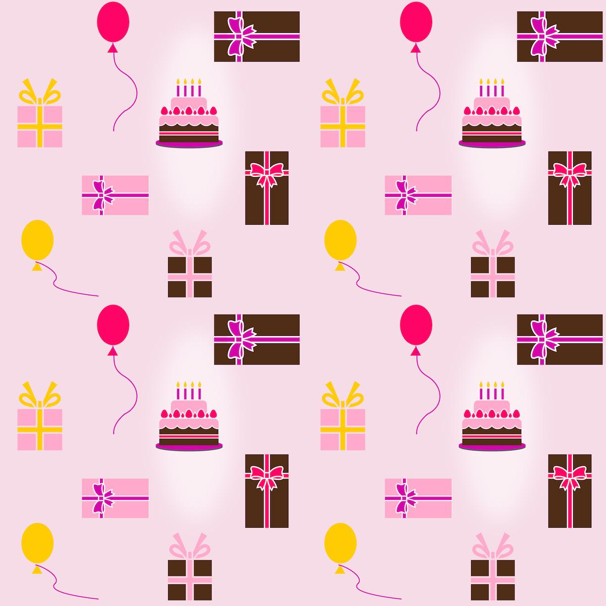Free Digital Birthday Scrapbooking Paper - Ausdruckbares Geschenkpapier - Freebie