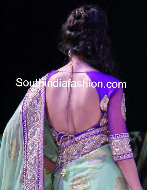 latest saree blouse models 2014