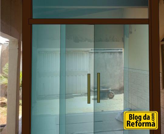 Projeto portal pequiá ipê stain blindex vidro
