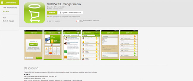 SHOPWISE manger mieux