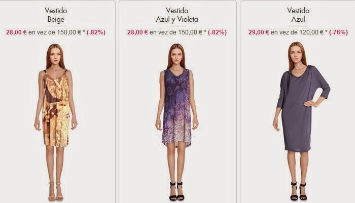 Tres modelos en oferta de vestidos a 28 euros.
