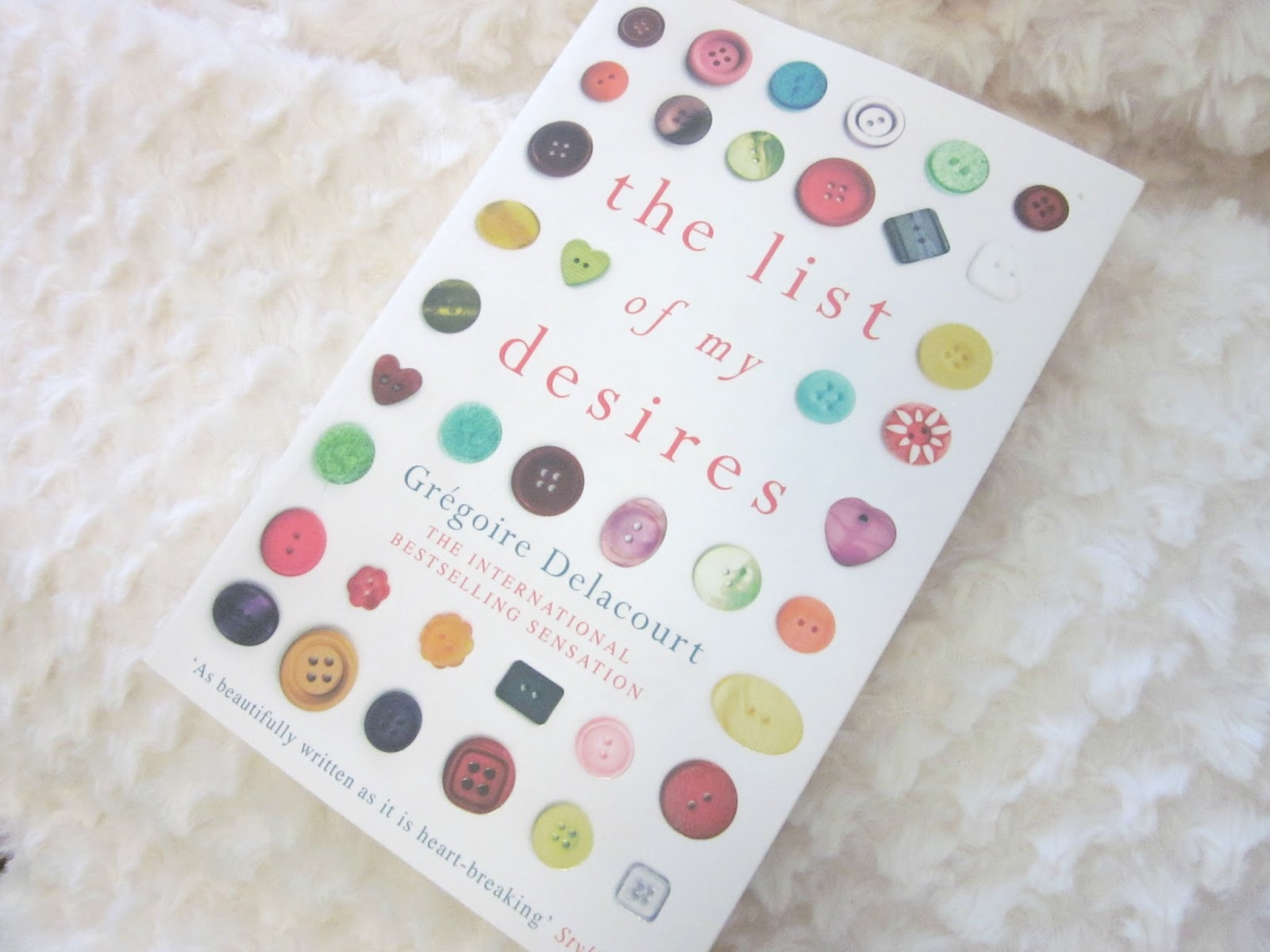 The List of My Desires paperback book with button cover