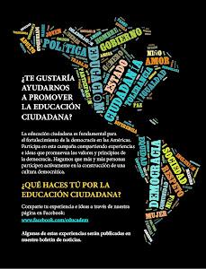 Ayudanos a Promover la Educación Ciudadana