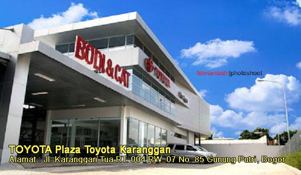 Harga Plaza TOYOTA Karanggan, GUNUNG PUTRI, BOGOR