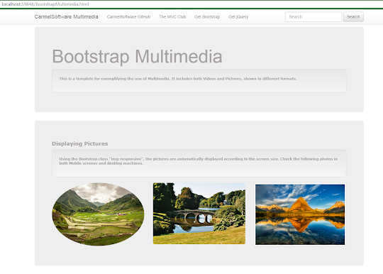 Bootstrap Tutorial Lesson 8 - Responsive Multimedia Video and Pictures    1